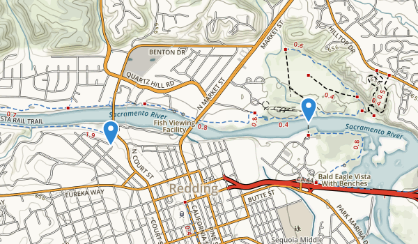 trail locations for Caldwell Park