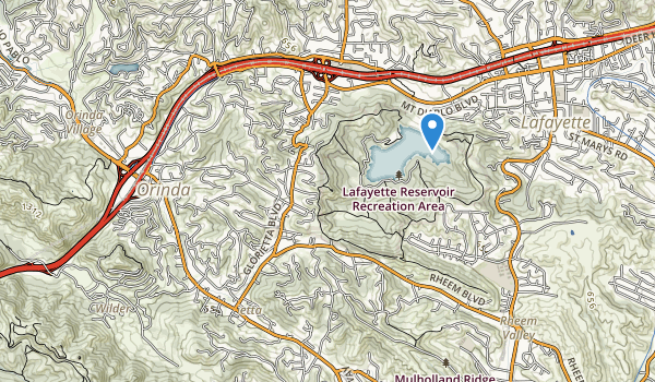Lafayette Reservoir Recreation Area Map