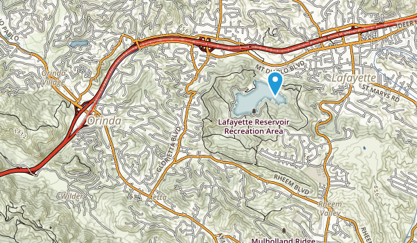 Lafayette Reservoir Recreation Area Map
