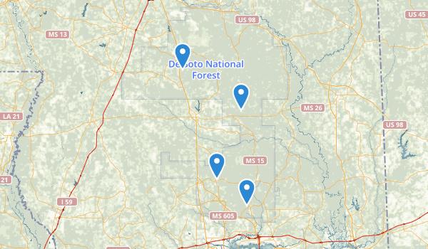 De Soto National Forest Map