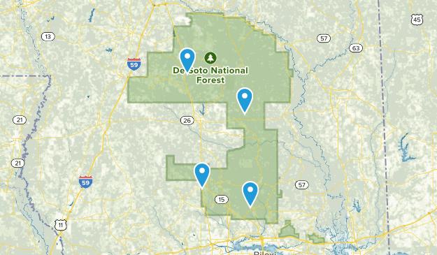 Bosque Nacional De Soto Map