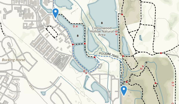 Cottonwood Hollow Natural Area Map