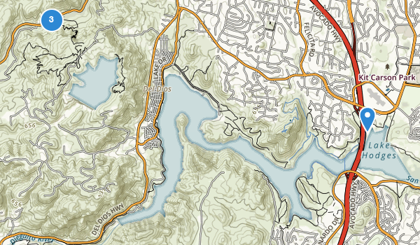 trail locations for Elfin Forest Recreational Reserve