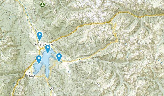 Dillon Reservoir Recreation Area Map