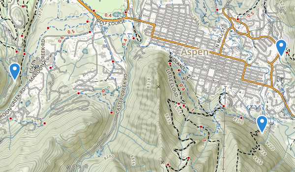trail locations for Ajax Park