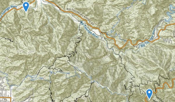 trail locations for Deukmejian Wilderness Park