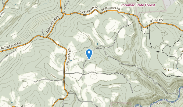 Potomac State Forest Map