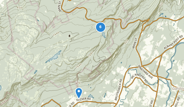 trail locations for Minnewaska State Park