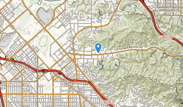 trail locations for Verdugo Mountain Park