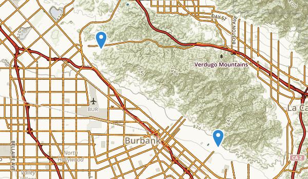 Verdugo Mountain Park Map