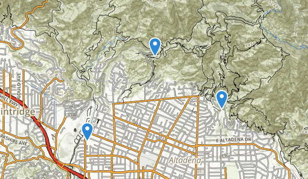 trail locations for Hahamongna Watershed Park