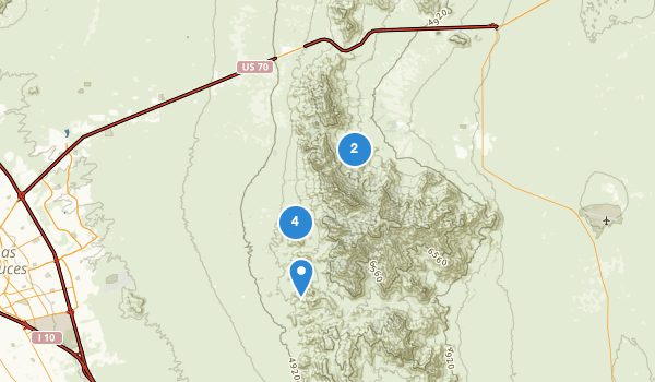 trail locations for Organ Mountain National Recreation Area