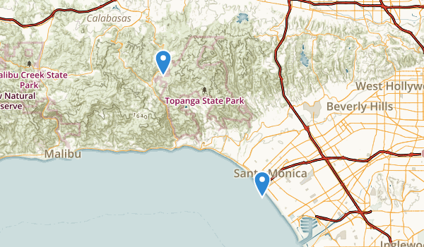 Santa Monica State Beach Park Map