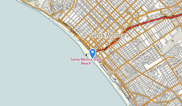 Santa Monica State Beach Park Map