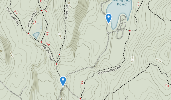 trail locations for Willowemoc Wild Forest