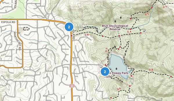 Lake Poway Park Map