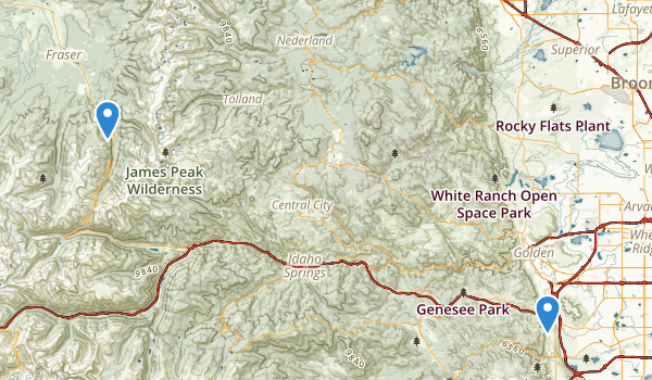 trail locations for Winter Park