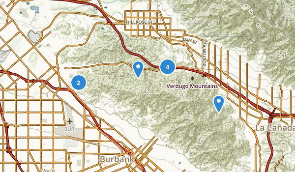 La Tuna Canyon Park Map