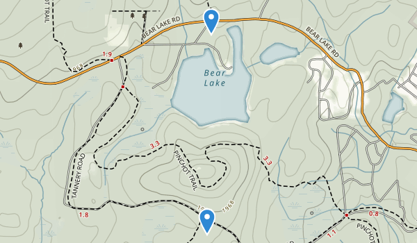 Spruce Swamp Natural Area Map