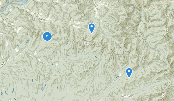 trail locations for Baisam Lake Mountain Wild Forest