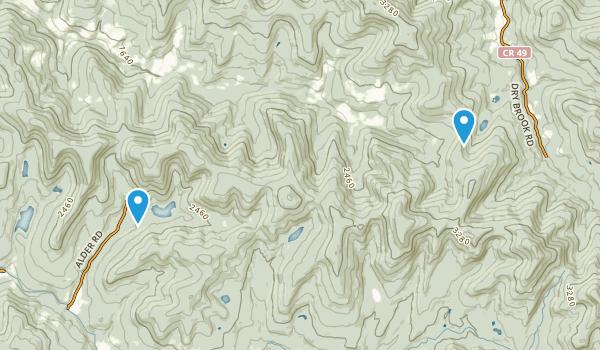 Baisam Lake Mountain Wild Forest Map