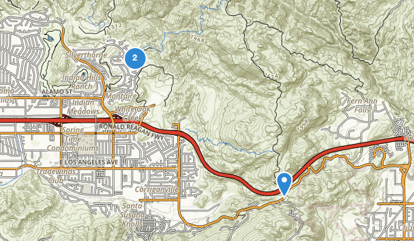 trail locations for Rocky Peak Park