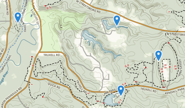 trail locations for Kendall Park