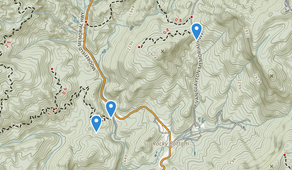 trail locations for Jocassee Gorger Management Area