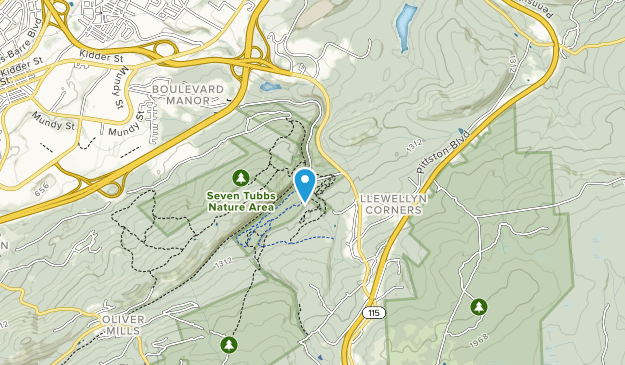Seven Tubbs Nature Area Map