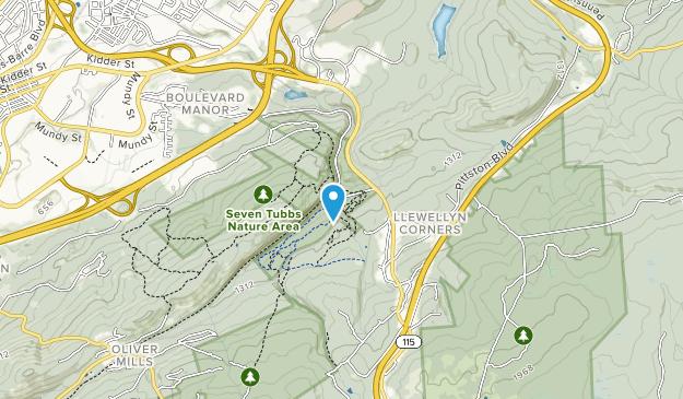 Área Natural Siete Tubbs Map