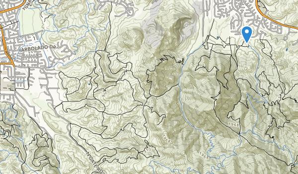 trail locations for Diabio Foothils Regional Park