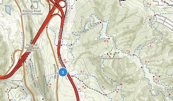 William F Hayden Green Mountain Park Map