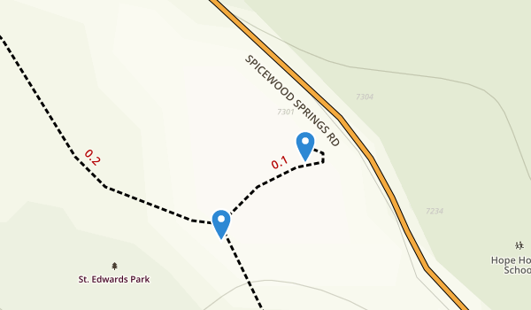trail locations for St Edwards Park