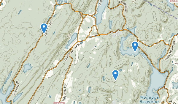 trail locations for Long Pond Ironworks State Park