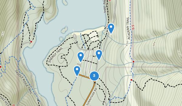 trail locations for Buntzen Lake Reservoir Park