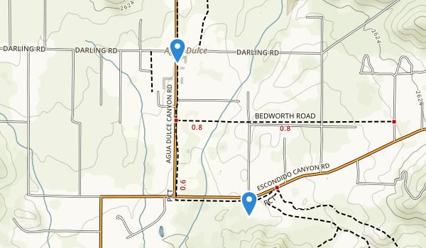 trail locations for Vasquez Rock Park