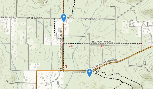Vasquez Rock Park Map