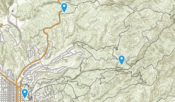 HUlls Gulch Park Map