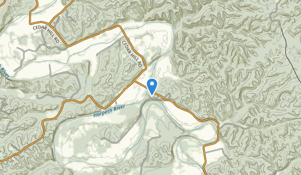 Narrows of the Harpeth State Park Map