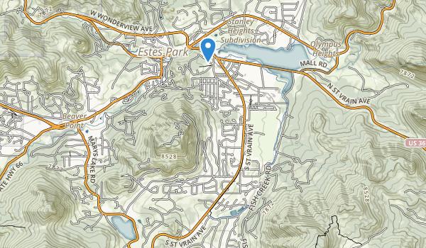 trail locations for Estes Park Goif Course