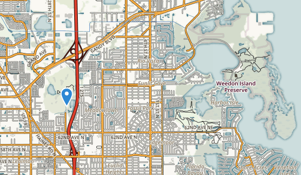 trail locations for Sawgrass Lake Park