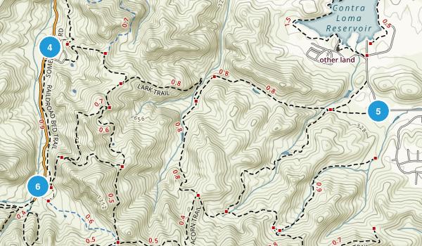 Black Diamond Mines Regional Park Map