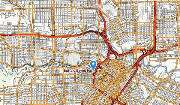 Buffalo Bayou Park Map