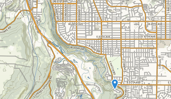 trail locations for Comstock Park