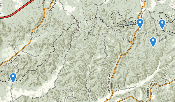 trail locations for Jefferson County Memorial Forest