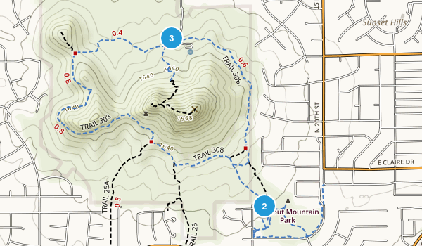 Lookout Mountain Preserve Map
