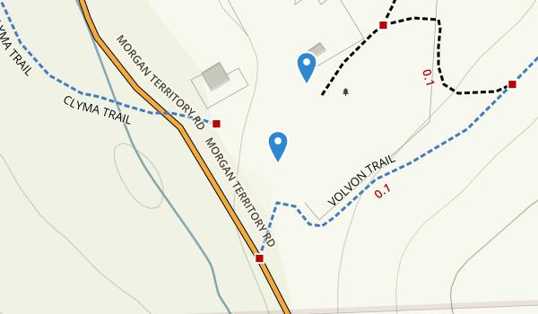 trail locations for Morgan Territory Regional Preserve