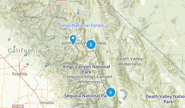 John Muir Wilderness Map