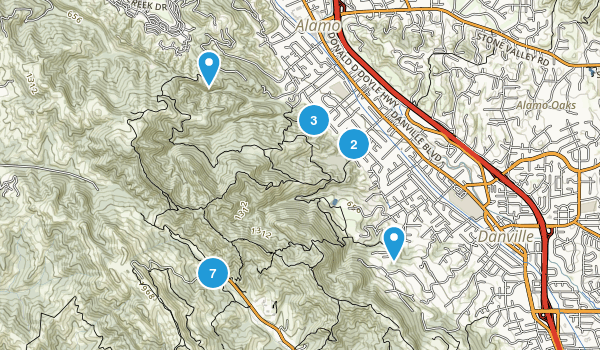 Las Trampas Regional Park Map
