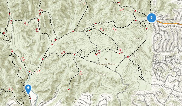 trail locations for Upper Las Virgenes Canyon Open Space Preserve